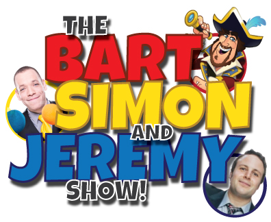 barnacle bart, magic simon, jeremy the violin dude, the bart simon and jeremy show