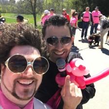 Barnacle Bart Magic Birthday Entertainer Toronto BCSC breast cancer awareness monkey balloon