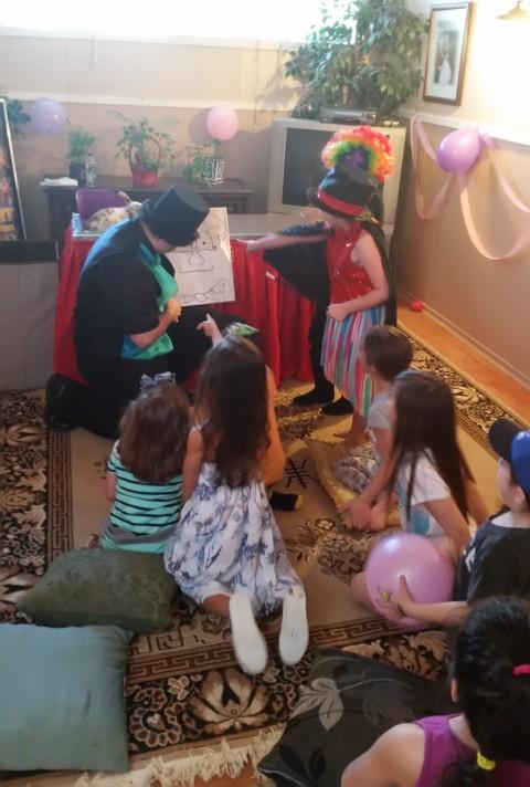 Barnacle Bart Magic Birthday Entertainer Toronto magic drawing board magician clown