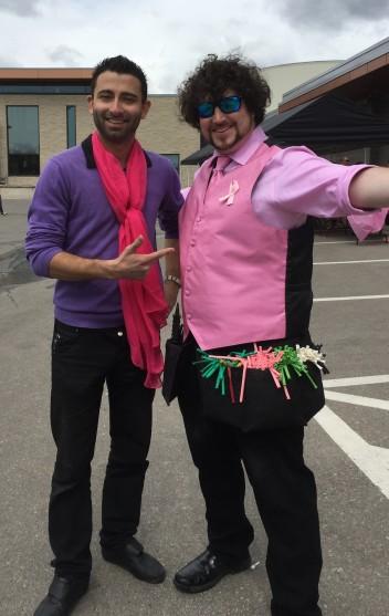 Barnacle Bart Magic Birthday Entertainer Toronto BCSC breast cancer awareness pink