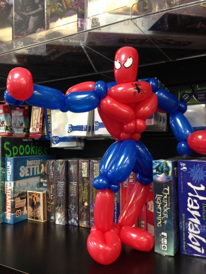 Barnacle Bart Magic Birthday Entertainer Toronto Spiderman balloon