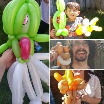 Barnacle Bart Magic Birthday Entertainer Toronto Pokemon Balloons Gardevoir Jolteon Eevee Vulpix